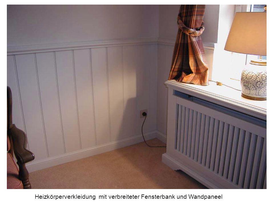 Heizkörperverkleidung mit verbreiteter Fensterbank und Wandpaneel