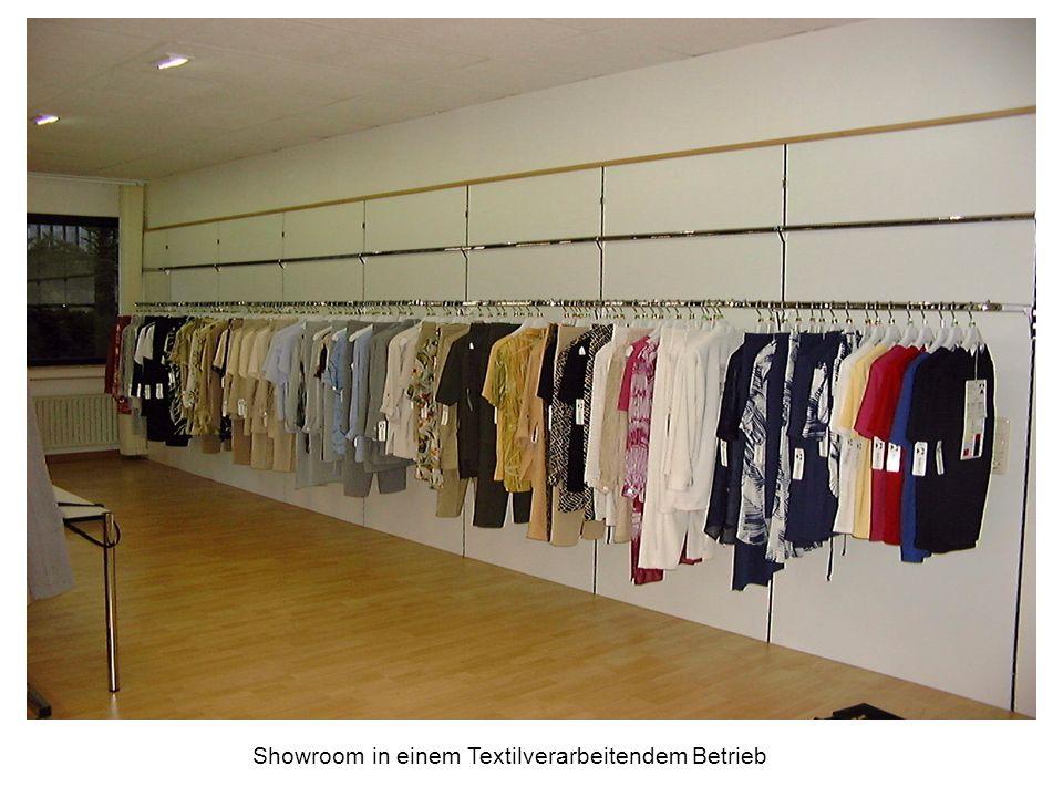 Showroom in einem Textilverarbeitendem Betrieb
