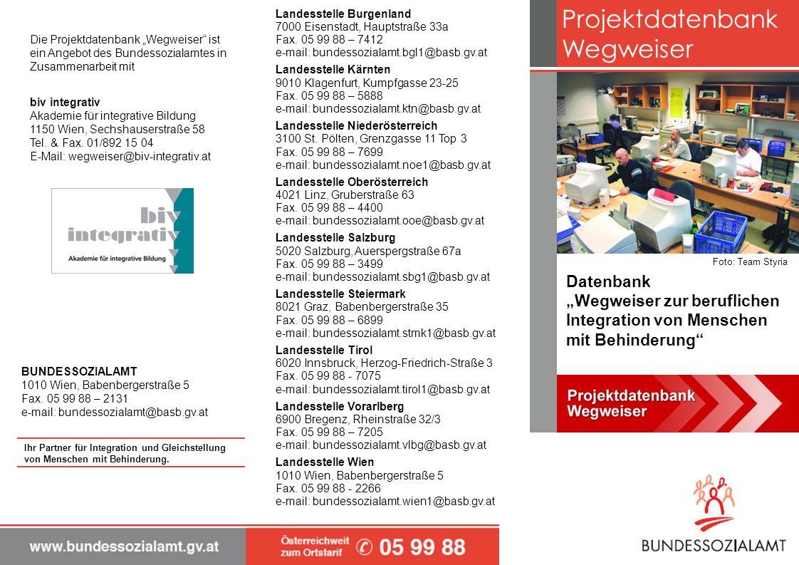 Projektdatenbank Wegweiser