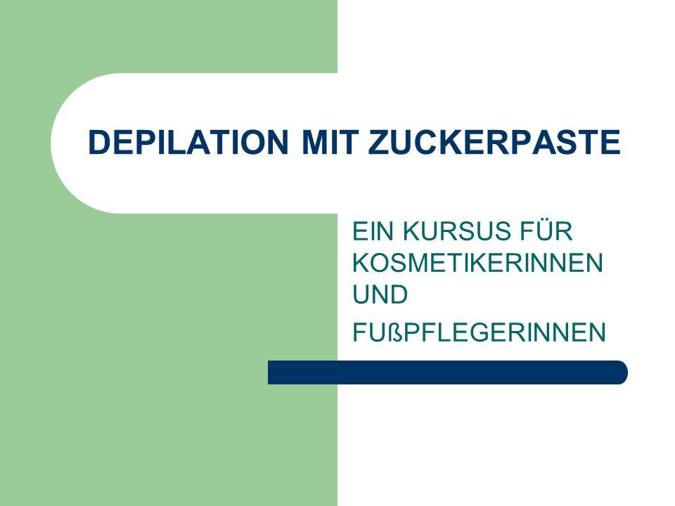 DEPILATION MIT ZUCKERPASTE
