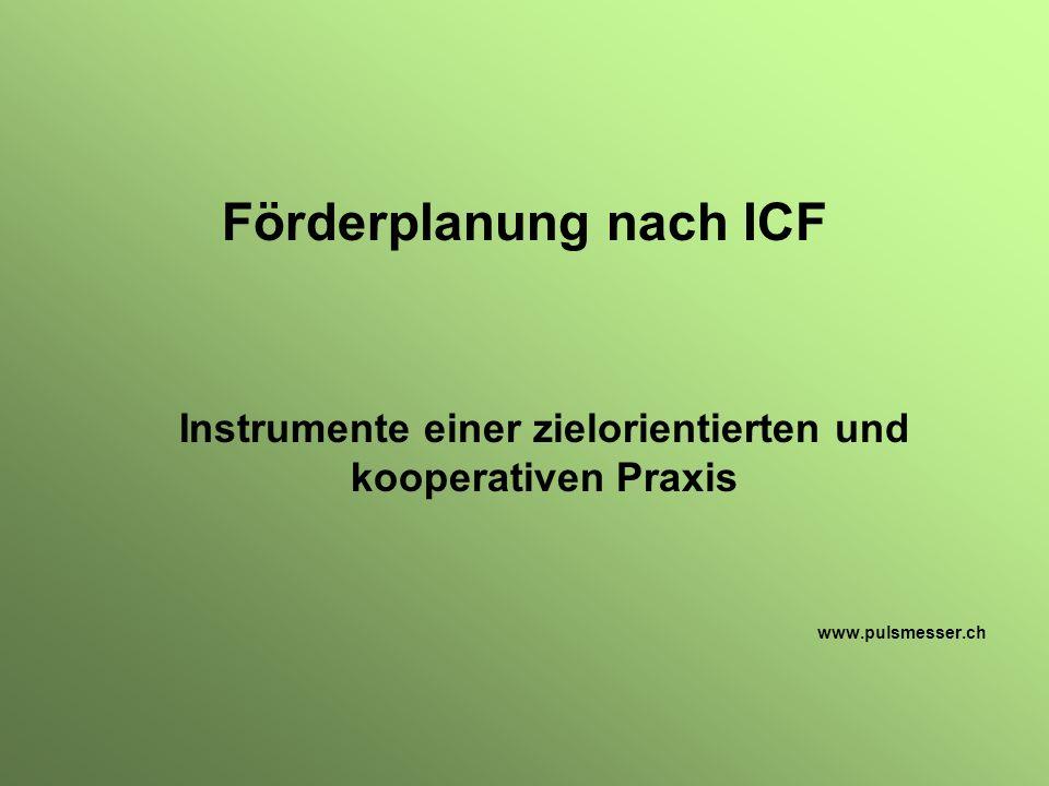 Förderplanung nach ICF