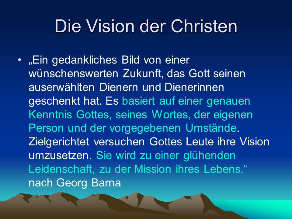 Die Vision der Christen