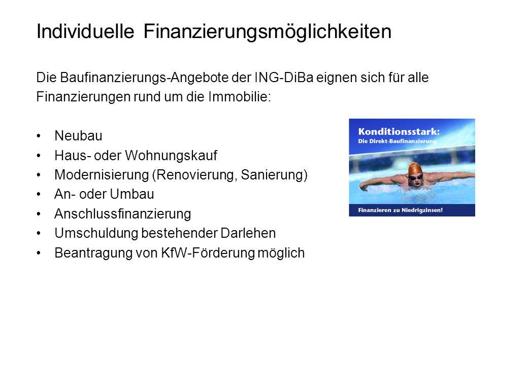 Individuelle Finanzierungsmöglichkeiten