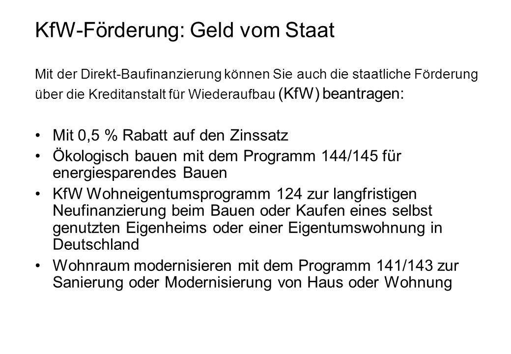 KfW-Förderung: Geld vom Staat