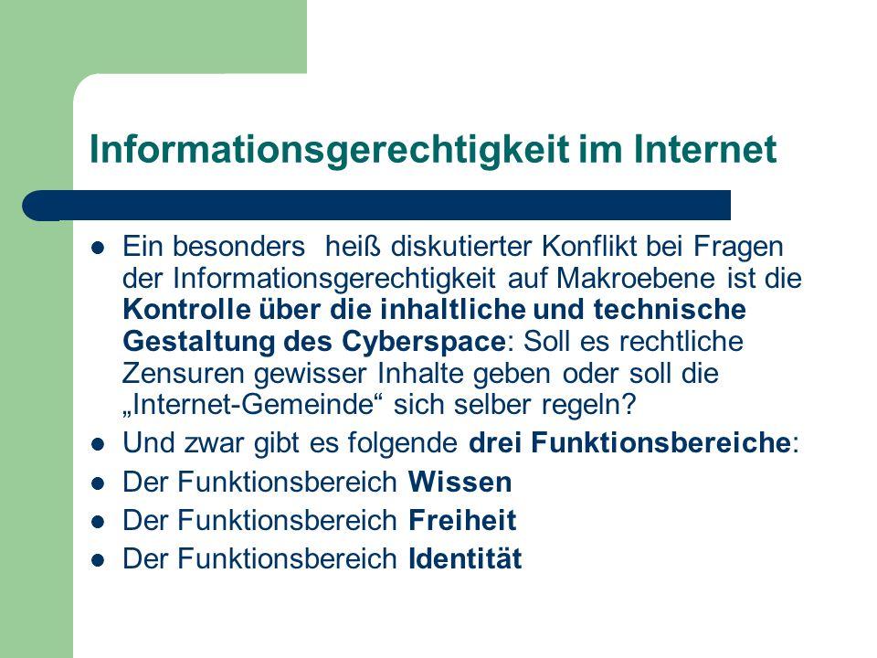 Informationsgerechtigkeit im Internet