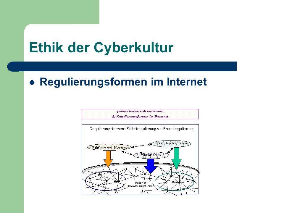 Ethik der Cyberkultur Regulierungsformen im Internet
