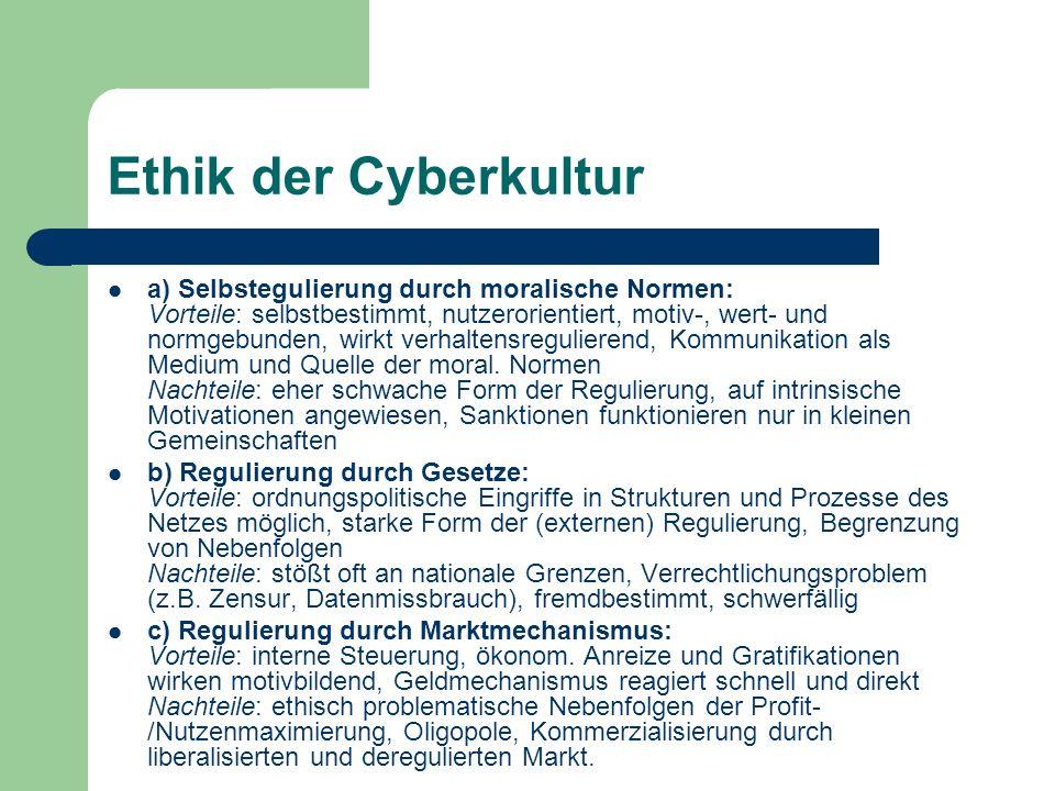 Ethik der Cyberkultur