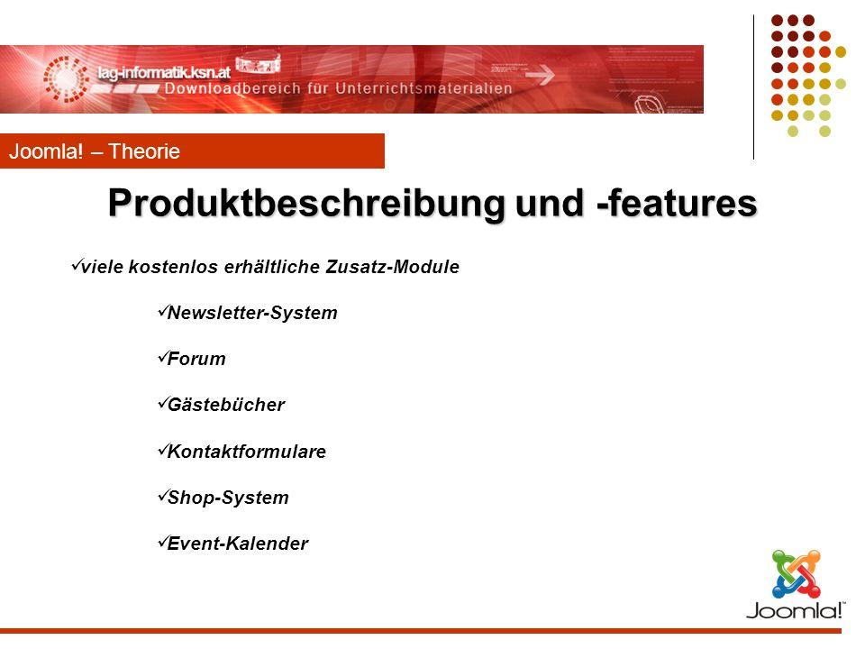 Produktbeschreibung und -features