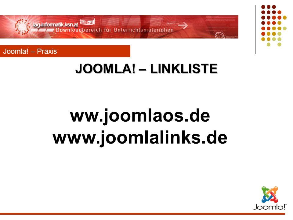 ww.joomlaos.de www.joomlalinks.de