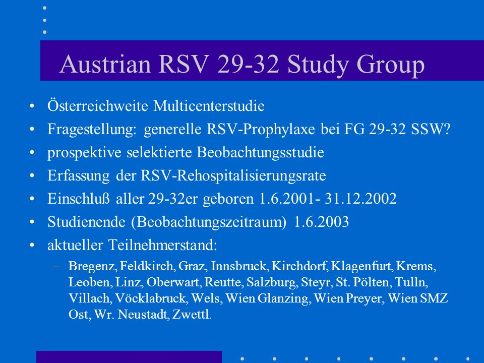 Austrian RSV Study Group