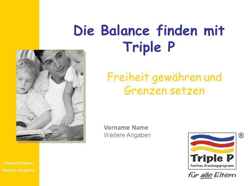 Die Balance finden mit Triple P