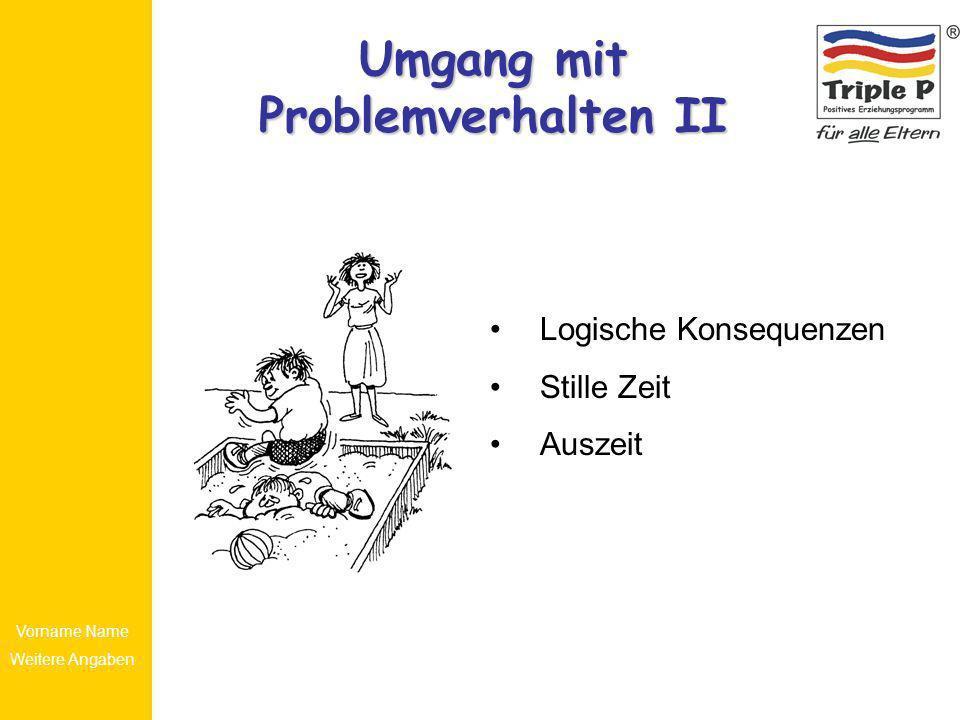Umgang mit Problemverhalten II