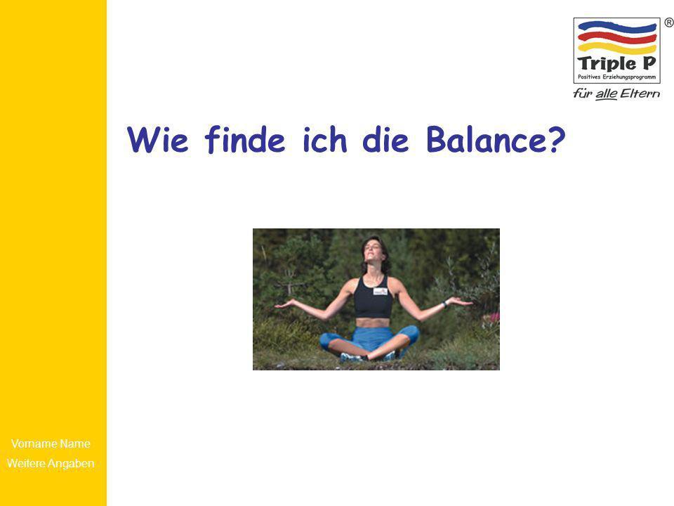 Wie finde ich die Balance
