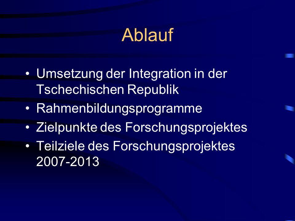 Ablauf Umsetzung der Integration in der Tschechischen Republik