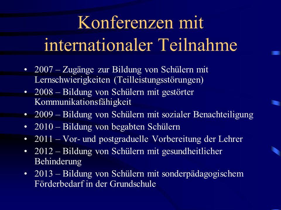 Konferenzen mit internationaler Teilnahme