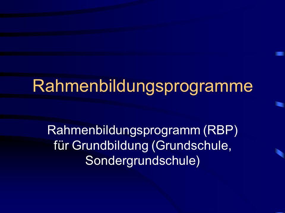 Rahmenbildungsprogramme