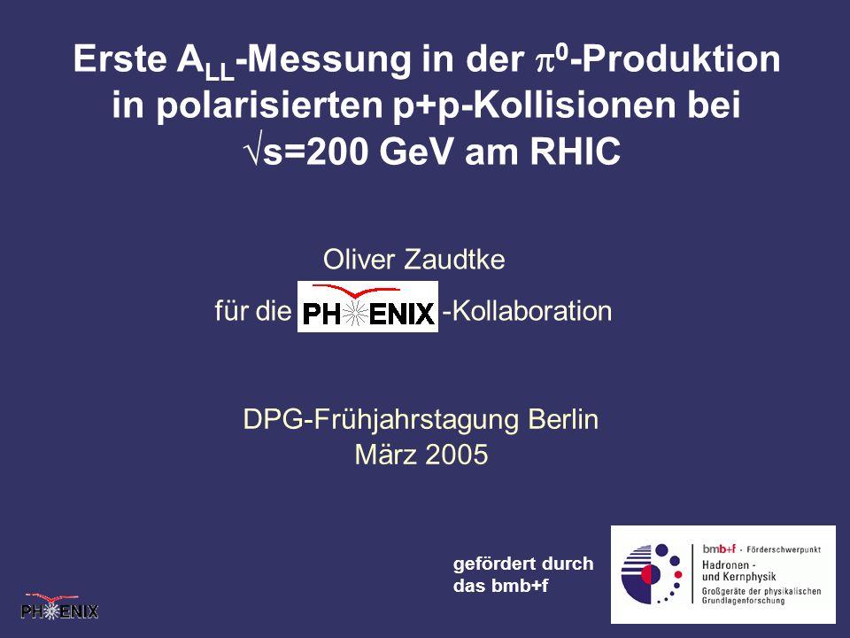 Erste ALL-Messung in der p0-Produktion in polarisierten p+p-Kollisionen bei √s=200 GeV am RHIC