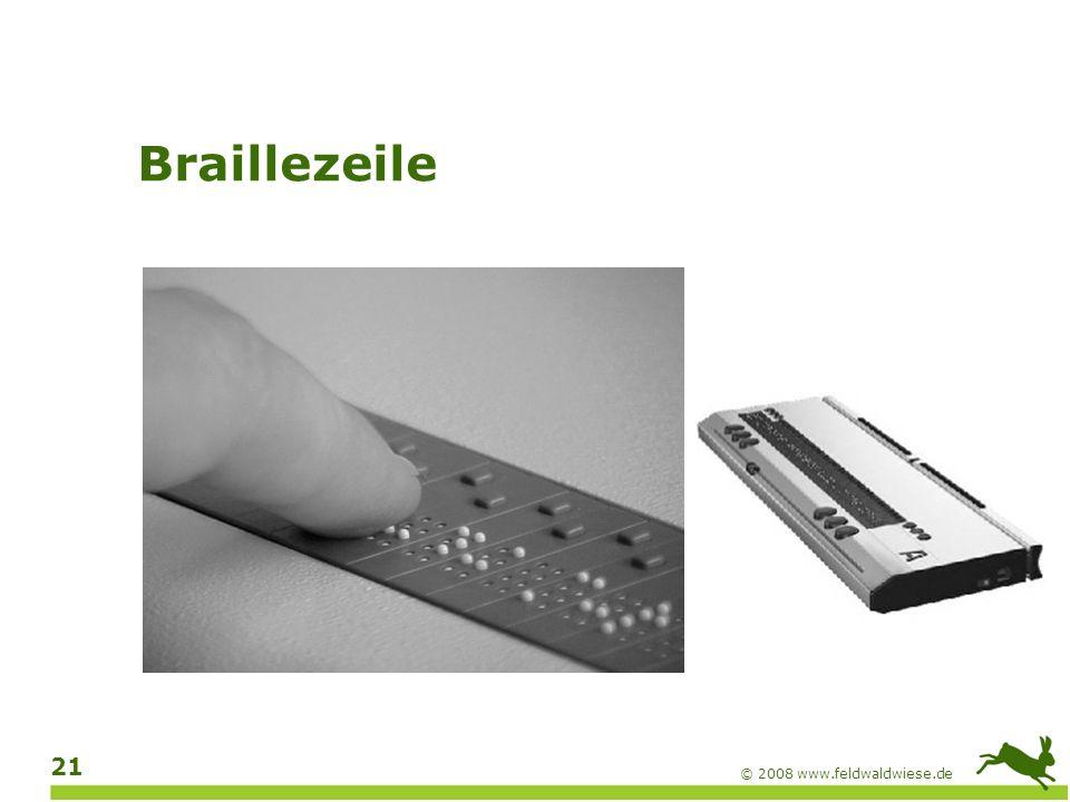 Braillezeile © 2008 www.feldwaldwiese.de