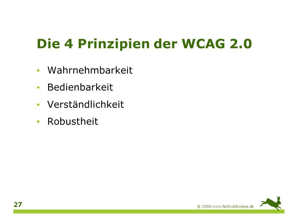 Die 4 Prinzipien der WCAG 2.0