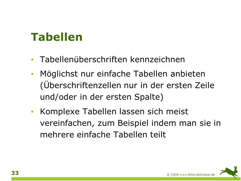 Tabellen Tabellenüberschriften kennzeichnen