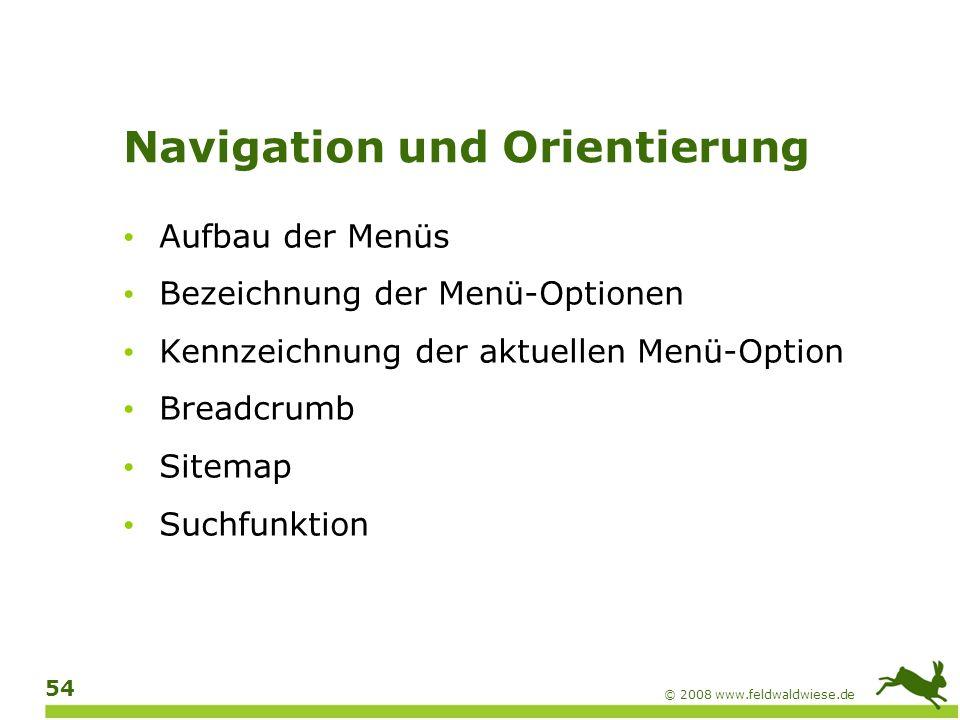 Navigation und Orientierung