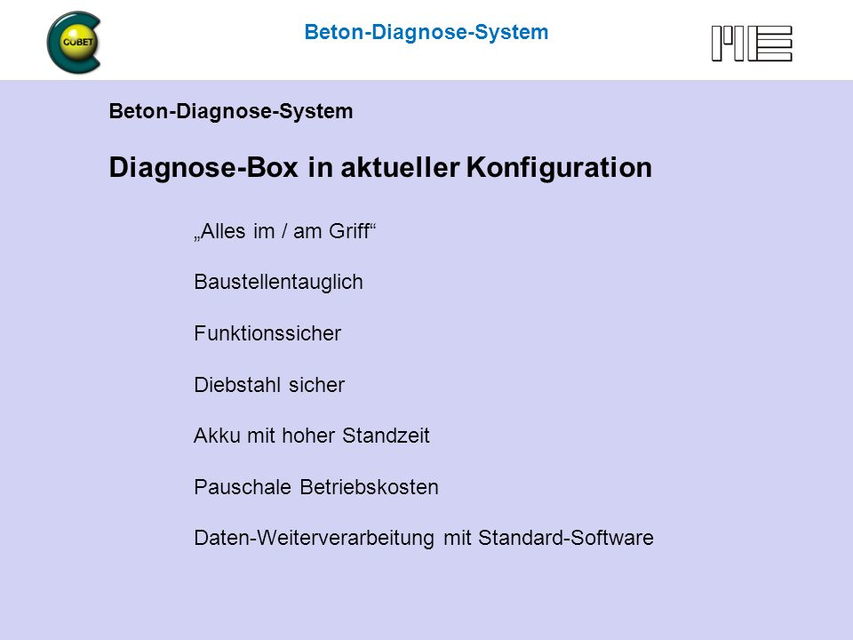 Diagnose-Box in aktueller Konfiguration