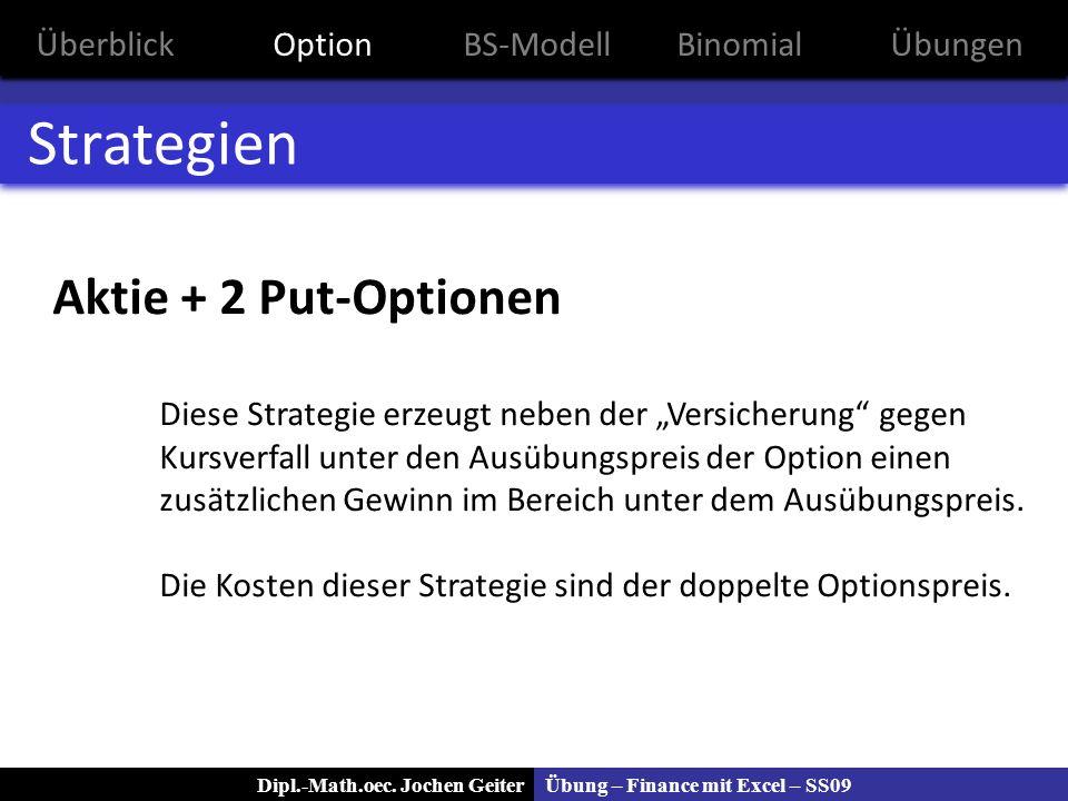 Strategien Aktie + 2 Put-Optionen