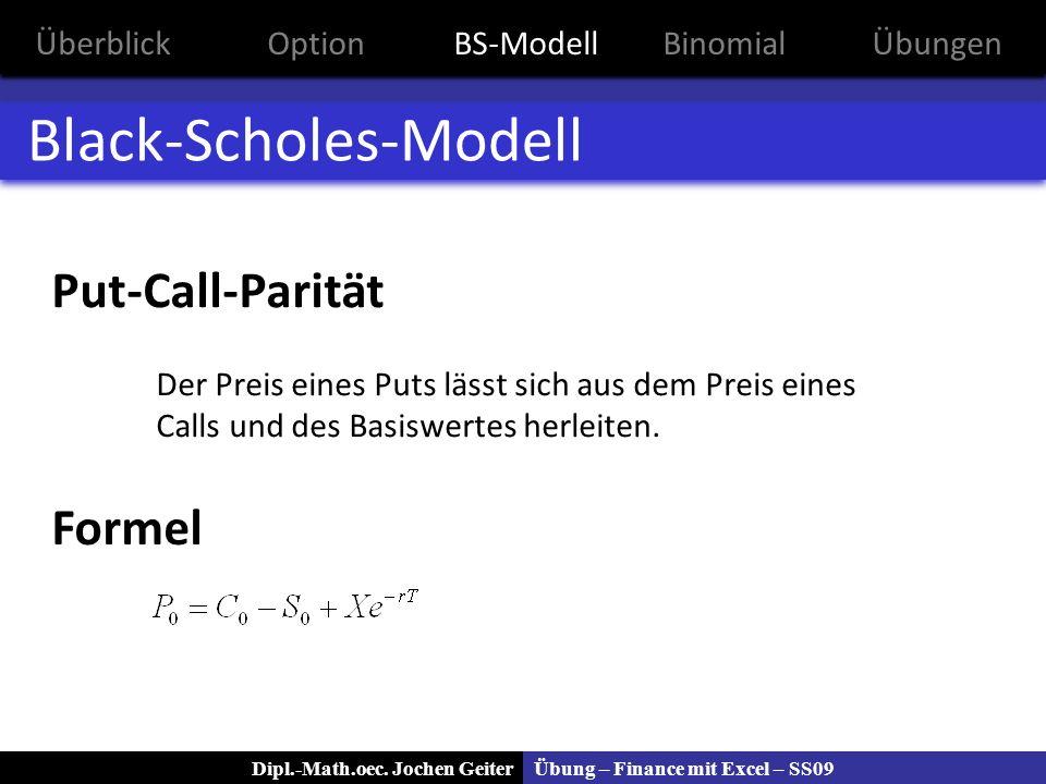 Black-Scholes-Modell