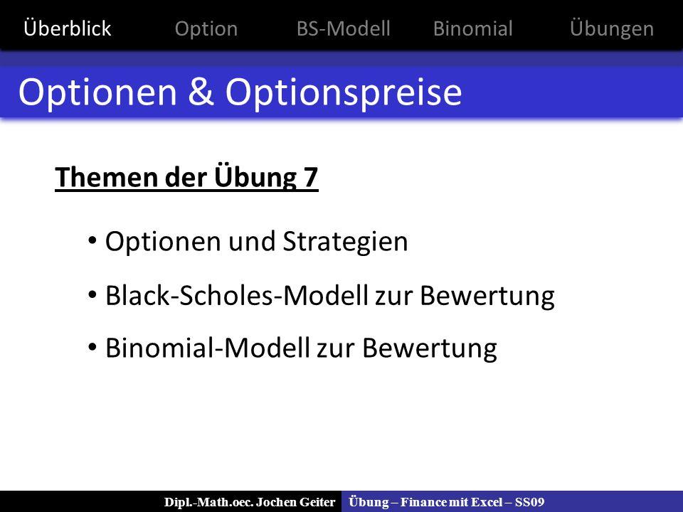 Optionen & Optionspreise