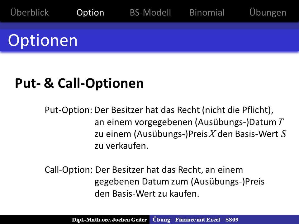 Optionen Put- & Call-Optionen