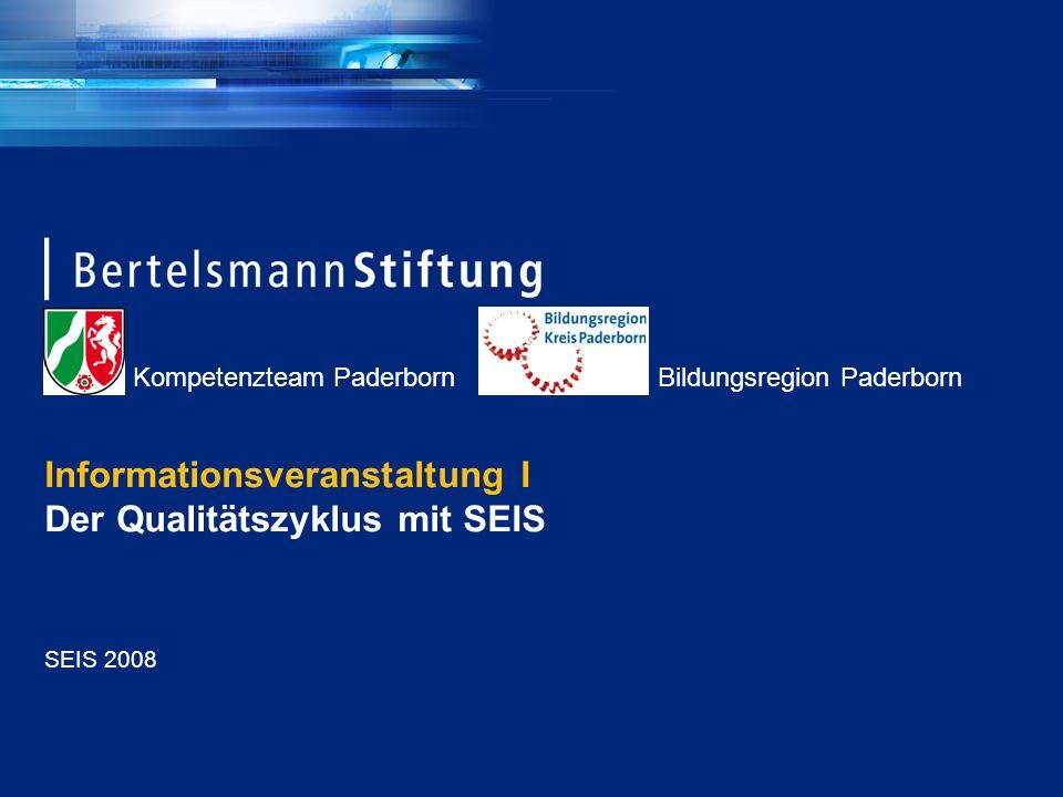 Informationsveranstaltung I Der Qualitätszyklus mit SEIS