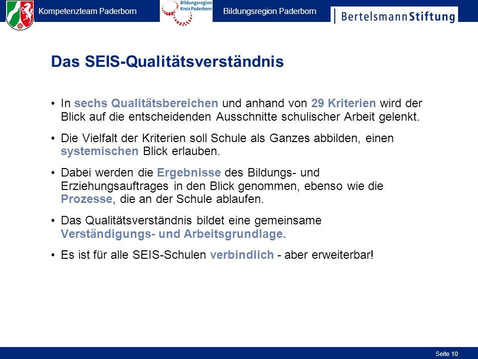 Das SEIS-Qualitätsverständnis