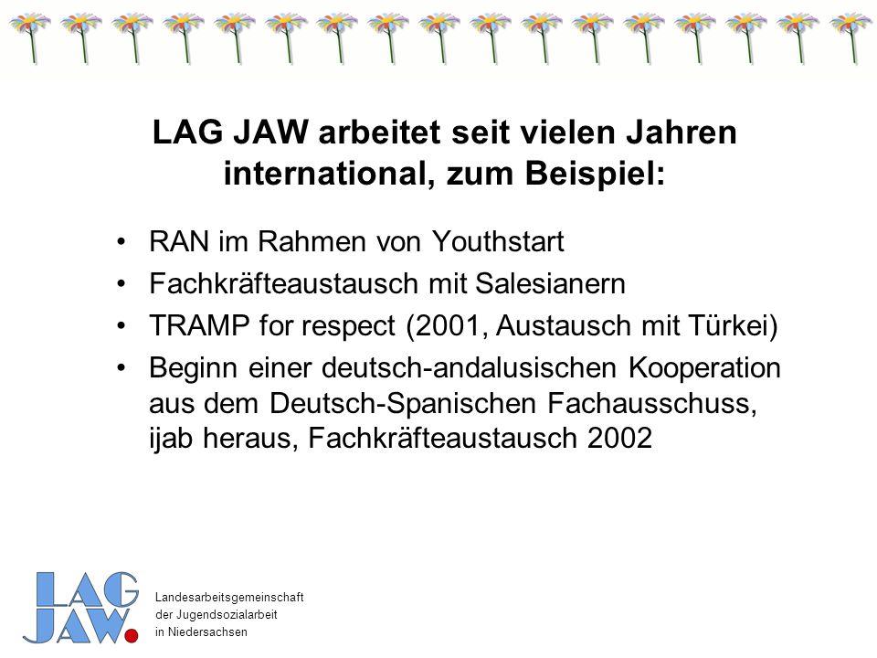 LAG JAW arbeitet seit vielen Jahren international, zum Beispiel: