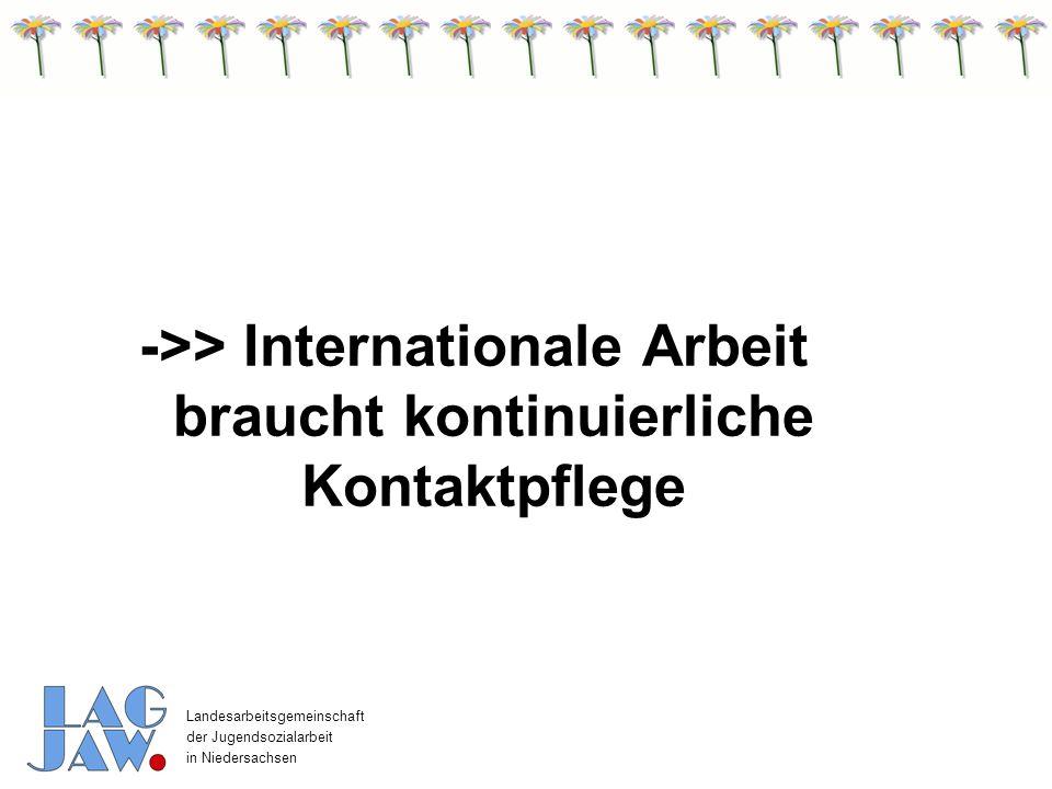 ->> Internationale Arbeit braucht kontinuierliche Kontaktpflege