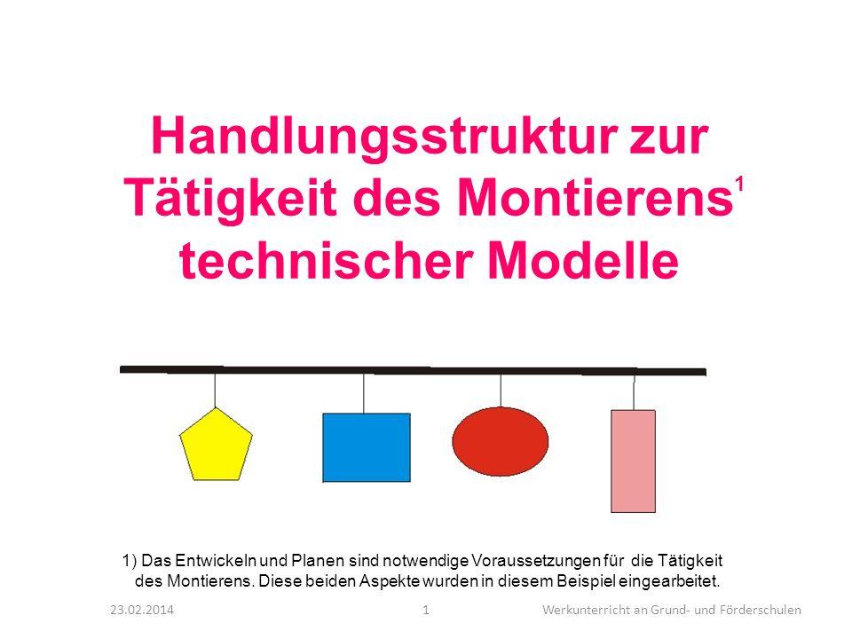 Handlungsstruktur zur Tätigkeit des Montierens technischer Modelle