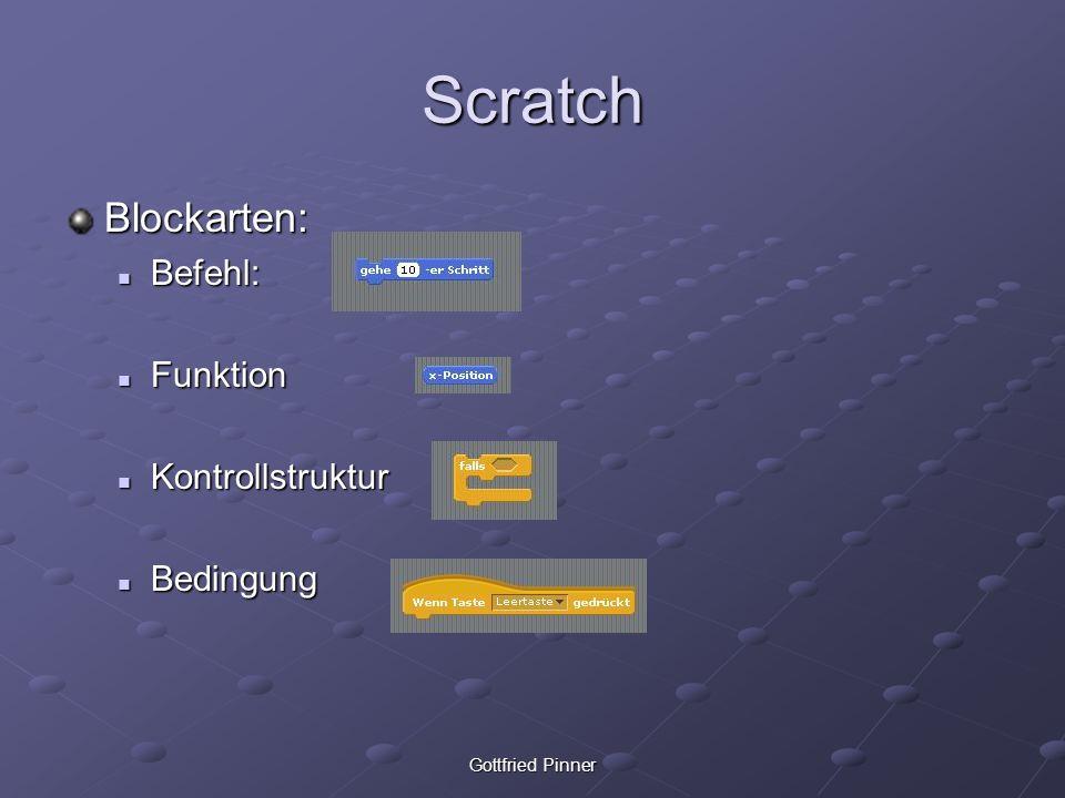 Scratch Blockarten: Befehl: Funktion Kontrollstruktur Bedingung