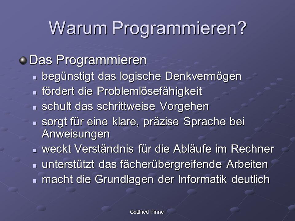 Warum Programmieren Das Programmieren