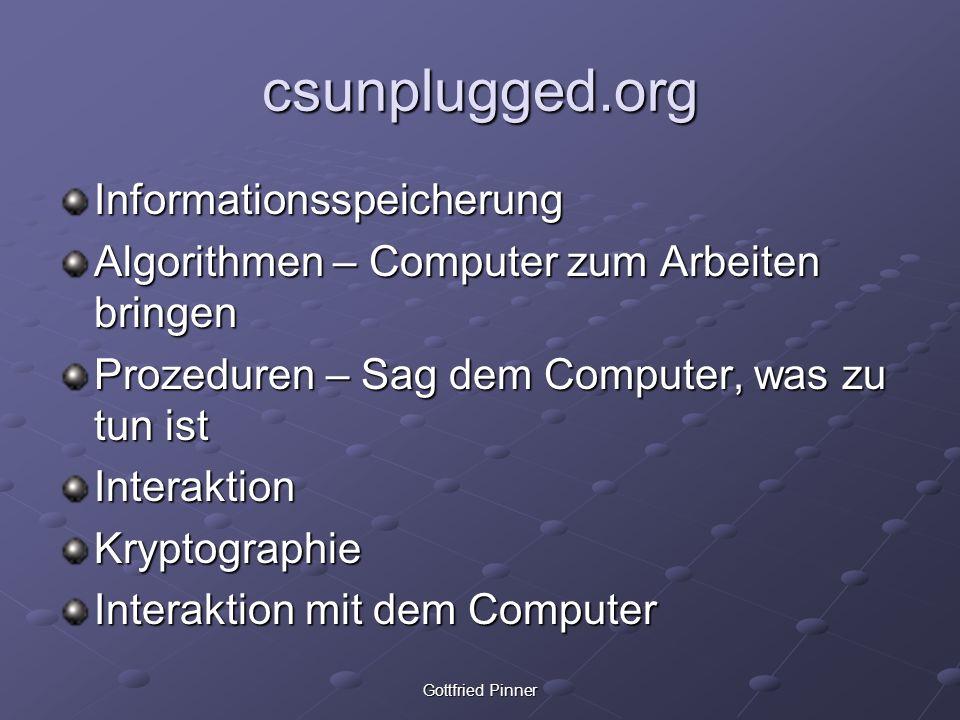 csunplugged.org Informationsspeicherung