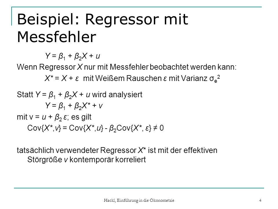 Beispiel: Regressor mit Messfehler