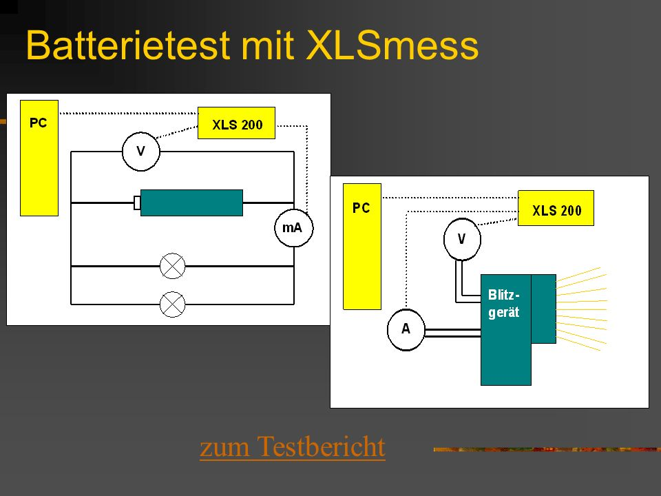 Batterietest mit XLSmess