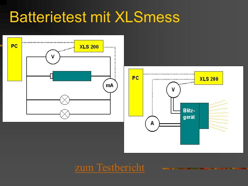 Batterietest mit XLSmess
