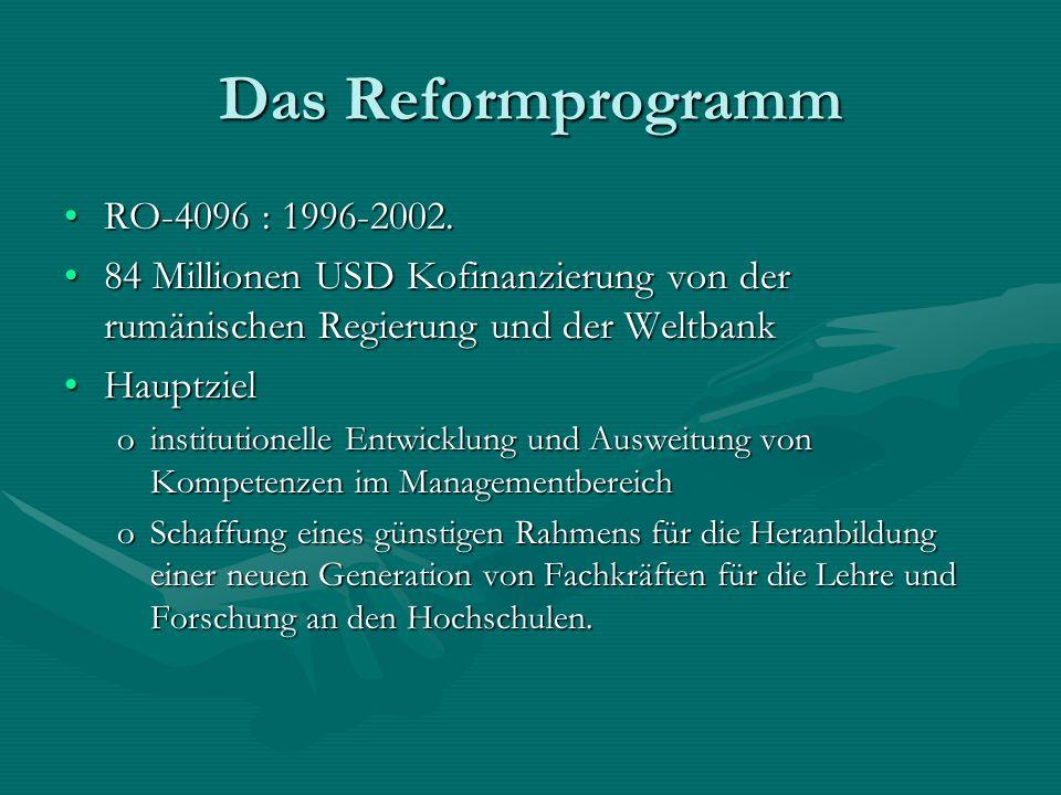 Das Reformprogramm RO-4096 : 1996-2002.