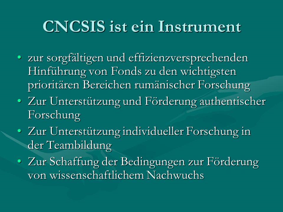 CNCSIS ist ein Instrument