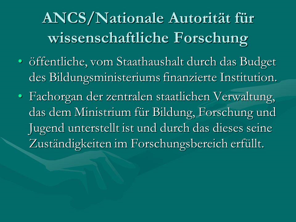 ANCS/Nationale Autorität für wissenschaftliche Forschung