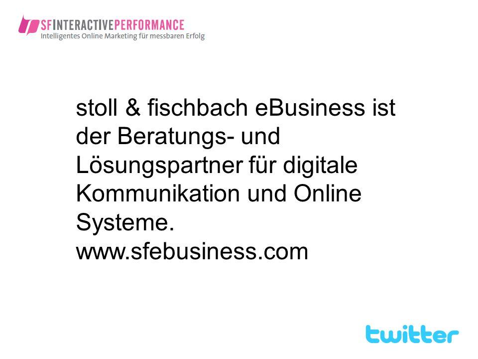 stoll & fischbach eBusiness ist der Beratungs- und Lösungspartner für digitale Kommunikation und Online Systeme.