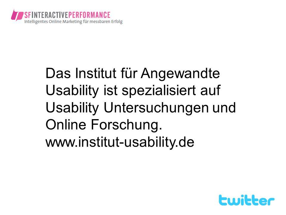 Das Institut für Angewandte Usability ist spezialisiert auf Usability Untersuchungen und Online Forschung.