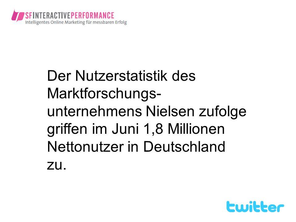 Der Nutzerstatistik des Marktforschungs-unternehmens Nielsen zufolge griffen im Juni 1,8 Millionen Nettonutzer in Deutschland zu.
