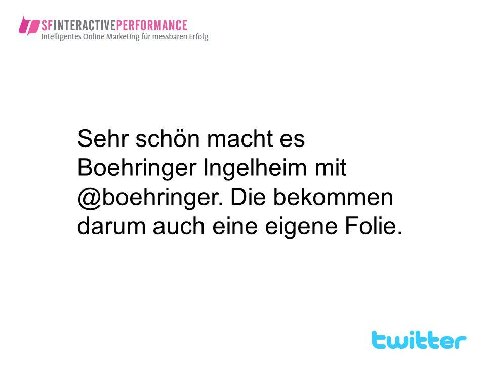 Sehr schön macht es Boehringer Ingelheim mit @boehringer
