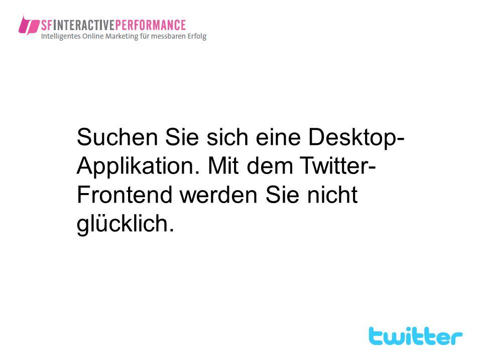 Suchen Sie sich eine Desktop-Applikation