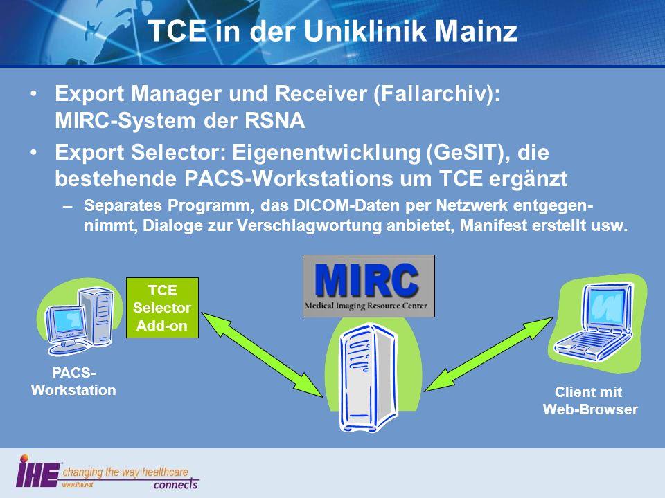 TCE in der Uniklinik Mainz